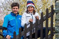 Zprava olympionička Kateřina Beroušková a její přítel i trenér Vladislav Razým