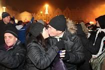 Oslavy příchodu roku 2014 na náměstí Republiky v Plzni