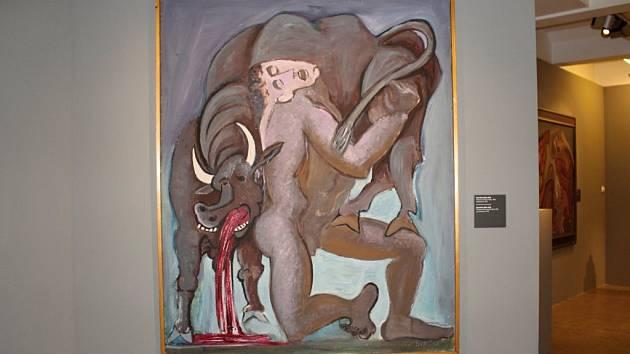 velkoformátový obraz Theseus nesoucí býka Emila Fillyelkoformátový obraz Theseus nesoucí býka Emila Filly