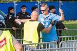 Bezpečností opatření před zápasem mezi Viktorií Plzeň a Baníkem Ostrava