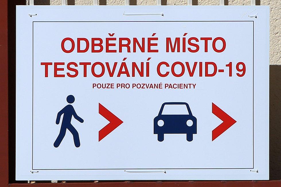 Průjezdové, odběrové místo FN Plzeň Bory