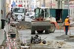 Rekonstrukce Veleslavínovy ulice v Plzni