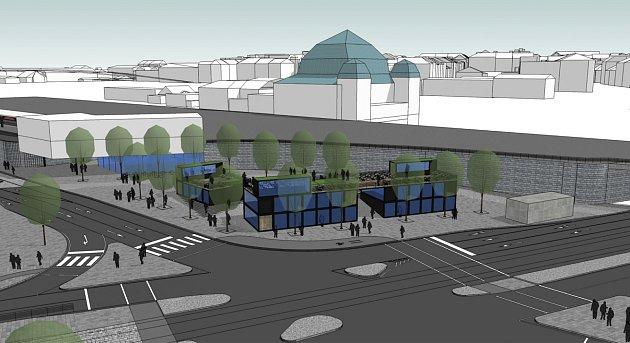 Prostor uhlavního vlakového nádraží mají obsadit lavičky, kavárna nebo infocentrum.