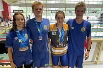 Plavci (zleva) Nicole Harmašová, Tomáš Chocholatý, Veronika Tondrová a Lukáš Tauchman.