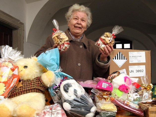 Všechny příchozí na místě sbírky s úsměvem vítala Anna Srbová (na snímku) z Městské charity Plzeň