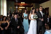V Loosových interiérech v Plzni se konala vůbec první svatba.