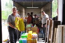 Humanitární sbírka pro lidi postižené povodněmi