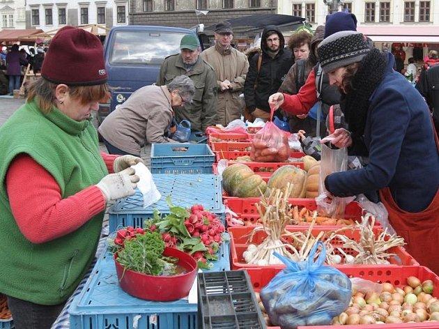 Poslední plzeňské farmářské trhy v roce 2014.