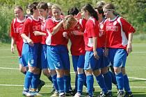 Fotbalistky Viktorie Plzeň se radovaly v sobotu z první jarní výhry v nejvyšší soutěži.