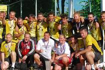 Hráči TJ Plzeň-Újezd zdolali ve druhém finálovém zápase Dioss Nýřany po prodloužení a mohli se po roční přestávce opět radovat ze zisku mistrovského titulu