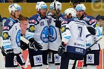 Hokejisté HC Škoda Plzeň šli do vedení po trefě Marcela Hossy.