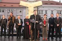 Slavnostní spuštění kašen na náměstí Republiky v Plzni