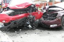 Nehoda dvou osobních aut u Chocenic