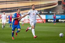 Jan Sýkora během utkání proti Hradci Králové.