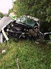 Tragická nehoda na silnici mezi Rokycany a Šťáhlavy