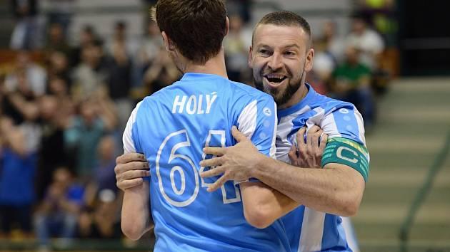 Třetí zápas semifinále play off VARTA futsal ligy mezi Interobalem Plzeň a AC Sparta Praha.