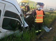 Vážná dopravní nehoda u Přeštic.