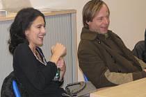 Lucia Siposová a Karel Roden