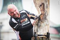 STIHL Timbersports na náměstí republiky v Plzni