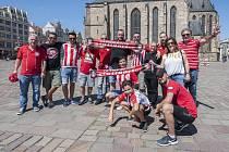 Fanoušci Olympiacos přijeli do Plzně.