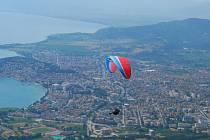 Z ptačí perspektivy si mohli prohlédnout účastníci mistrovství Evropy včetně Radka Václavika (na snímku) pořadatelské město makedonský Ohrid
