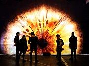 Instalace Oko na BLIK BLIK festivalu světla v DEPO2015