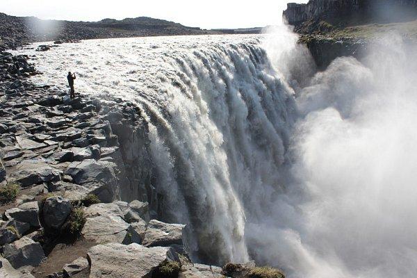 Vodopád Detifoss - největší vodopád Islandu a Evropy