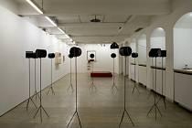 Umělci, již svá díla prezentují na výstavě Interiéry duše, se zaměřili na bytové interiéry, které navrhl světoznámý architekt Adolf Loos (na snímku Jan Krtička: Co si pamatuju z Loose)