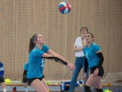 Juniorky týmu Volejbal Plzeň (na archivním snímku) skončily ve finálovém turnaji šesti nejlepších celků na nepopulárním čtvrtém místě.