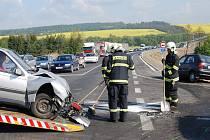 První nehoda na obchvatu Třemošné si vyžádala tři zraněné