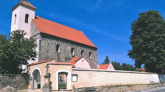 Potvorov (Plzeň-sever), kostel sv. Mikuláše a hřbitov