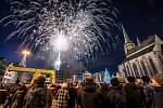 Novoroční ohňostroj 2020 v Plzni