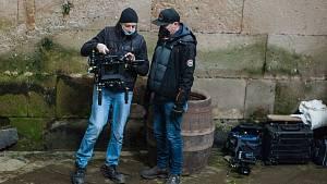 Filmový štáb právě natáčí v Plasích