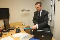 Martin Baxa na svém novém pracovišti