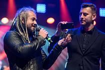 Vyhlášení hudební ankety Žebřík 2015 - druhé místo ve skupině roku získali Mandrage
