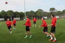 Fotbalisté FC Viktorie Plzeň při tréninku v Turecku