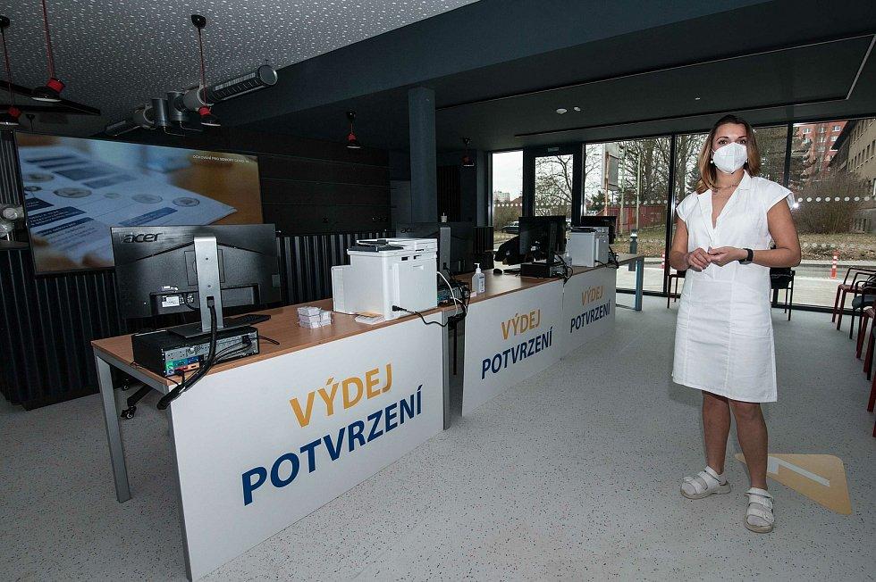 Velkokapacitní očkovací centrum v Plzni-Skvrňanech.