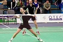 Badmintonisté USK Plzeň Josef Rubáš a Jaroslav Sobota (zprava) obsadili na víkendovém pražském turnaji Grand Prix kategorie A druhé místo a nyní už se soustředí na dvoukolo Compo Praha Extraligy