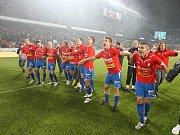 Na pražské Spartě ve finálovém utkání Ondrášovka Cupu porazila Viktoria Plzeň Jablonec a odvezla si domu pohár