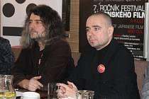 Organizátor Plzeňských ozvěn festivalu Eigasai Ivo Hucl (vlevo) a Robin Šoen Heřman, programový ředitel