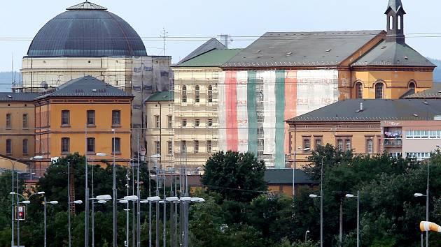 Rekonstrukce fasády plzeňské borské věznice