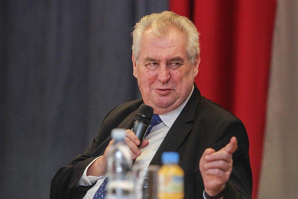 Prezident Miloš Zeman při návštěvě Nýřan