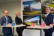 Tisková konference k představení nové podoby stadionu