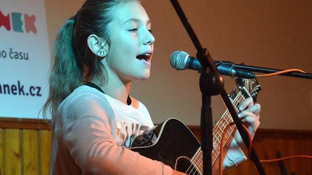 Karolína Kolbeková si odnesla cenu za 3.místo v kategorii do 14 let