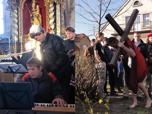 Ve folkrockovém zpracování nebo v představení ochotníků ožil v týdnu příběh utrpení Ježíše Krista, tzv. pašije