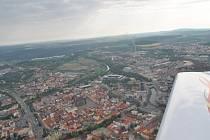 Pohled na Plzeň shůry