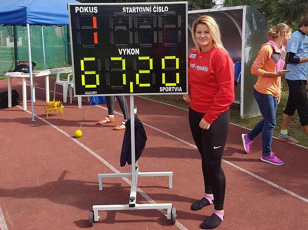 Kateřina Skypalová vytvořila osobní rekord.
