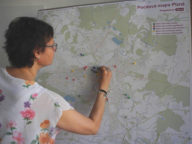 Pocitová mapa Plzně