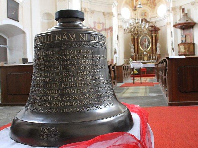 Nový zvon Václav je k vidění přímo v kostele.