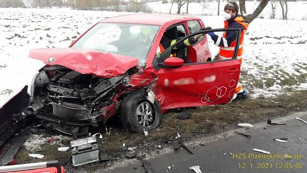 Úterní dopravní nehoda u Šťáhlav.